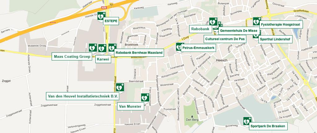 AED LOCATIES HEESCH