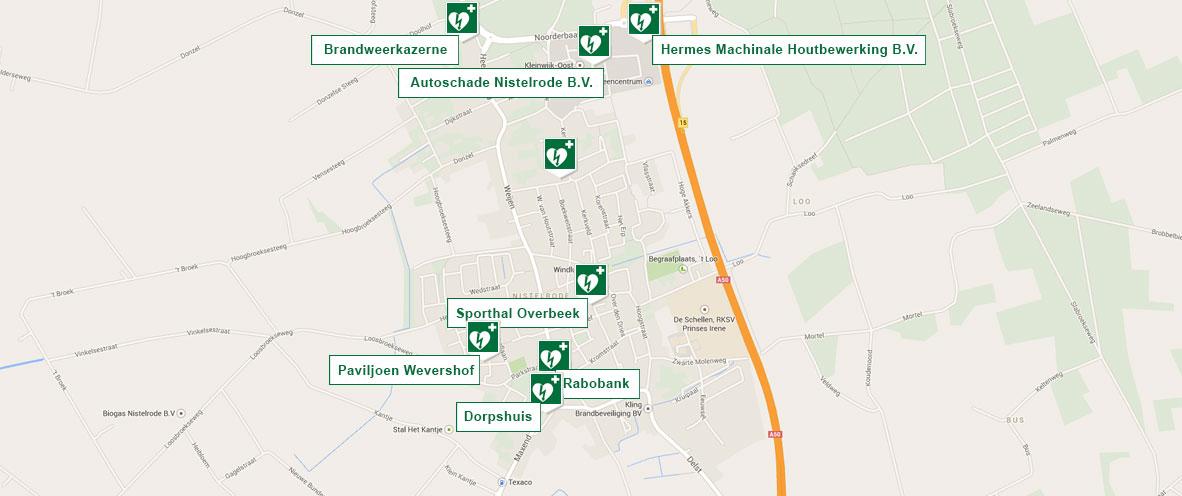 AED LOCATIES NISTELRODE