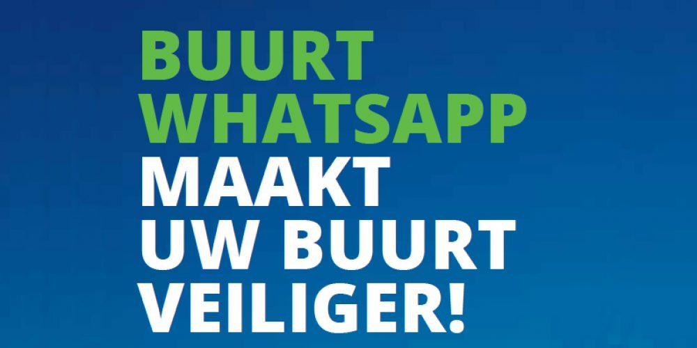 Buurt WhatsApp maakt buurt veiliger!